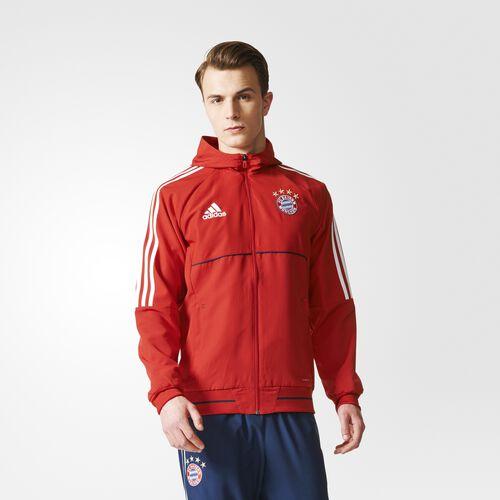 adidas - FC Bayern Munich Presentation Jacket Fcb True Red  /  White BP8230