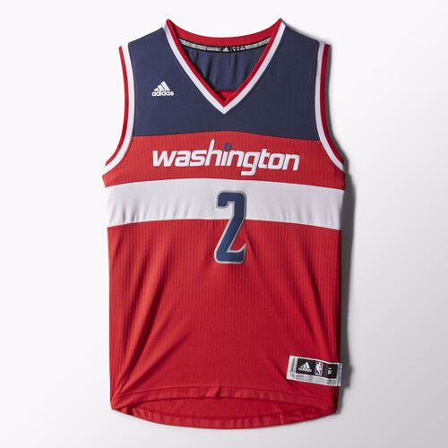 adidas - John Wall Wizards Road Swingman Jersey Red H85117