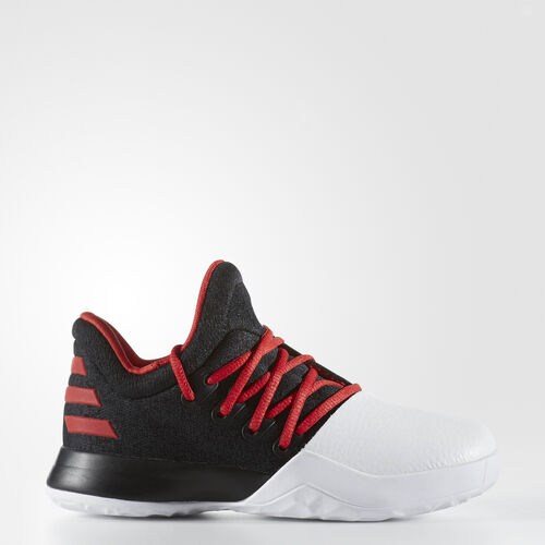 adidas - Harden Vol. 1 Shoes Core Black  /  Light Scarlet  /  Running White B49608