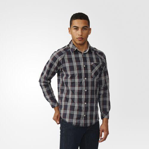 adidas - Aerotech Plaid Button-Front Shirt Black  /  Clear Brown AY8723