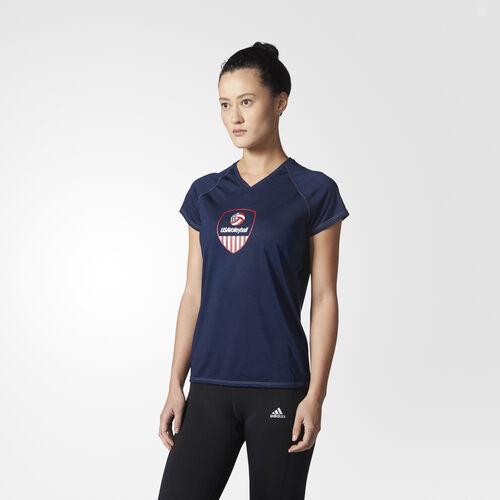 adidas - USA Volleyball Crest Tee Collegiate Navy CV2289