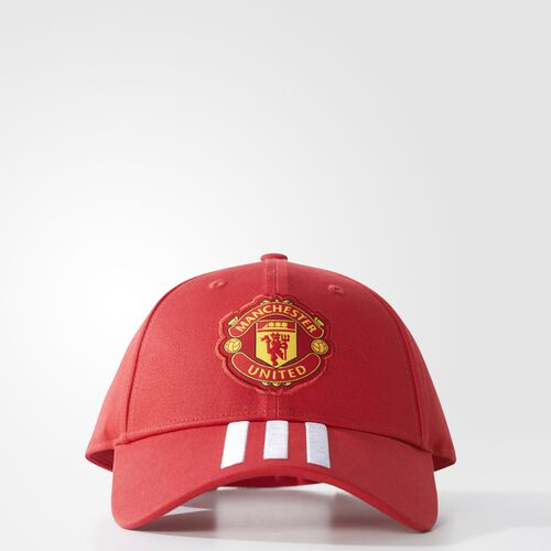 adidas - Manchester United 3-Stripes Hat Real Red  /  White BR7031