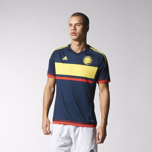 adidas - Colombia Away Replica Jersey Collegiate Navy  /  Lemon Peel  /  Light Red M62761