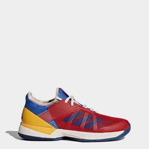 adidas - adizero Ubersonic 3.0 Pharrell Williams Shoes Chalk White  /  Blue  /  Collegiate Gold S81005