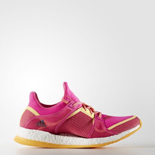 adidas - PureBoost X Training Shoes Shock Pink  /  Solar Gold  /  Silver Metallic AQ1972