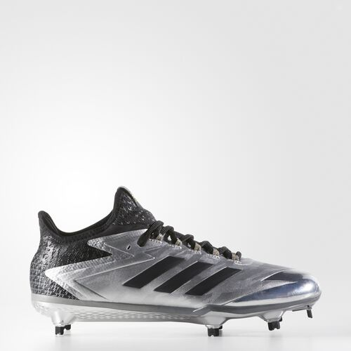 adidas - adizero Afterburner 4 Faded Cleats Silver Metallic  /  Black BY3677