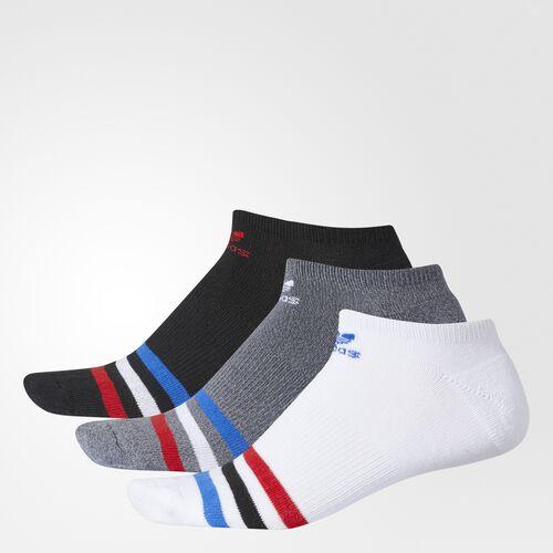 adidas - Roller No-Show Socks 3 Pairs White BI4206