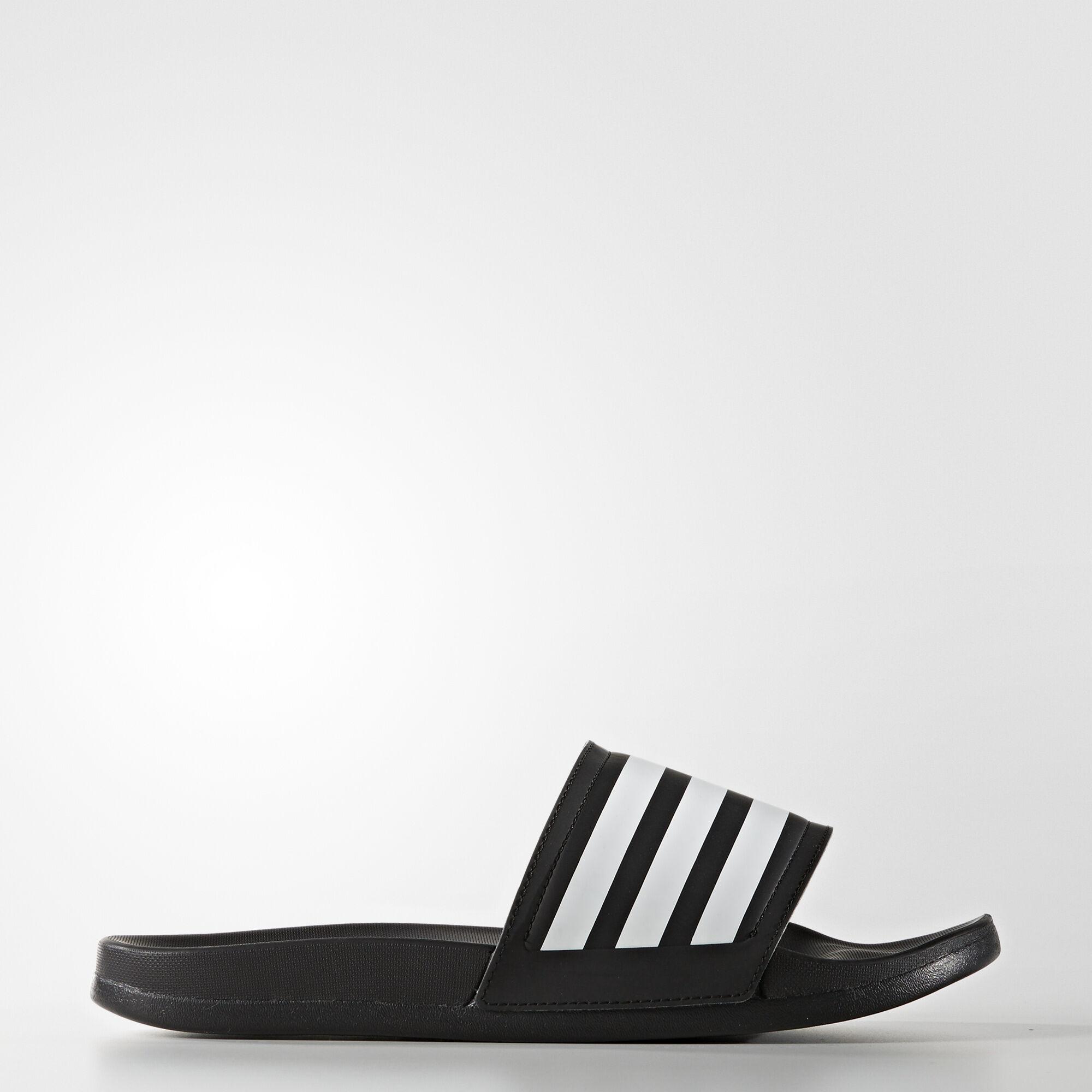797c6cdb3092 ... Women s adidas - adilette Ultra Slides Core Black   Running White    Black BA9300 adidas - Supercloud Plus Flip-Flops ...
