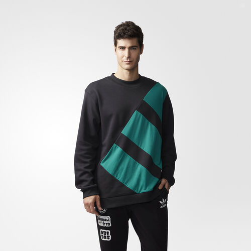 adidas - EQT Blocked Crew Sweatshirt Black CV8965