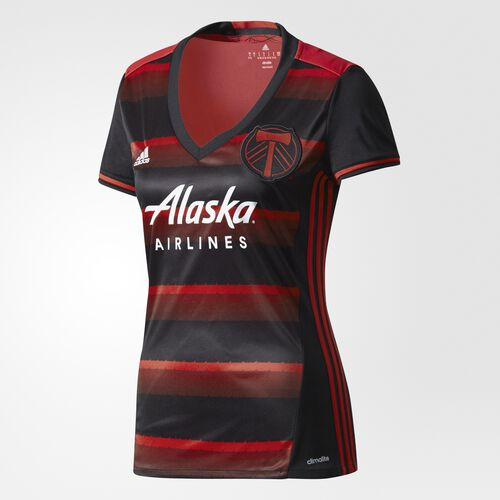 adidas - Timbers Away Replica Jersey Dark Red  /  Black  /  Dark Red BR1764