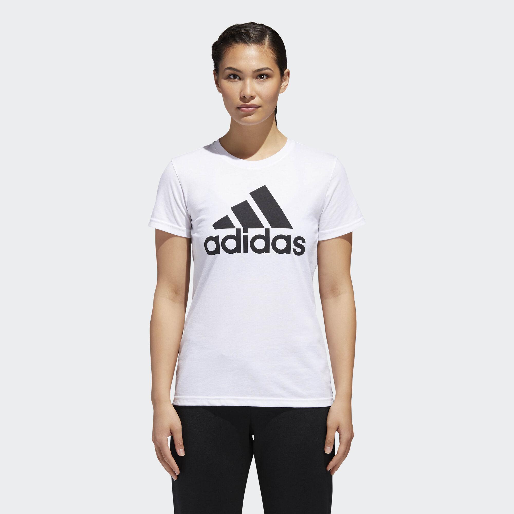 T shirt adidas white - Adidas Badge Of Sport Classic Tee White Black Ce2543