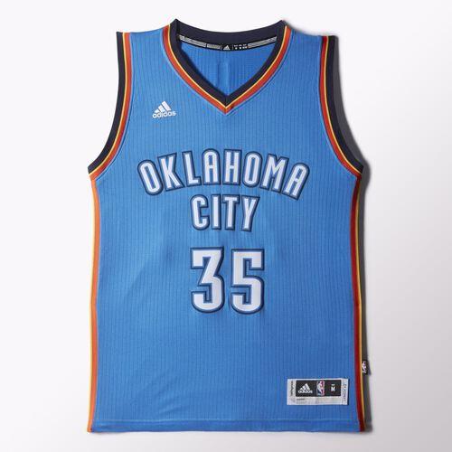 adidas - Thunder Durant Road Swingman Jersey Blue H82972