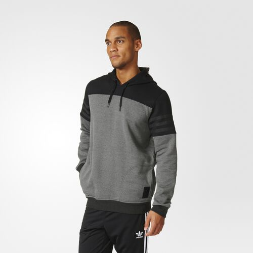 adidas - Elevated Pullover Hoodie Black  /  Black Melange AY8719