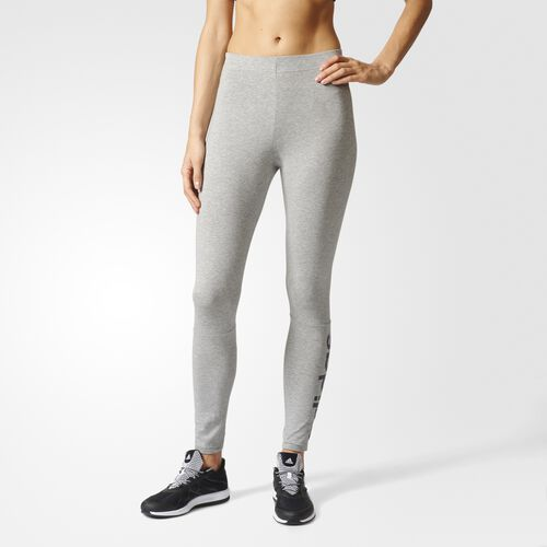adidas - Essentials Linear Tights Medium Grey Heather  /  Collegiate Navy B45777