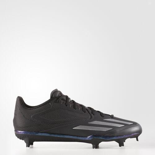 adidas - adizero Afterburner 3 Xeno Cleats Core Black  /  Metallic Silver  /  Metallic Silver B42903