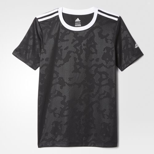 adidas - Beeeezy Base 3-Stripes Embossed Tee Black  /  White BH3256