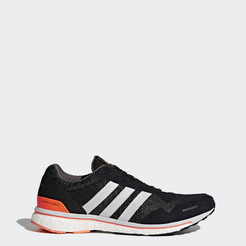 adidas - adizero Adios 3 Shoes Core Black  /  Light Solid Grey  /  Solar Orange CG3042