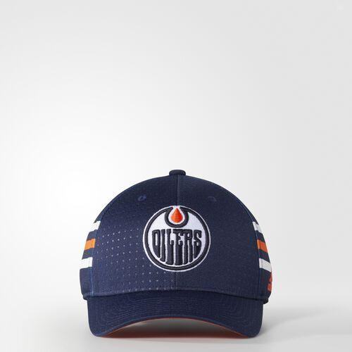 adidas - Oilers Structured Flex Draft Hat Blue BZ8730