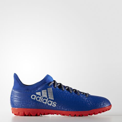 adidas - X 16.3 Turf Shoes Collegiate Royal  /  Silver Metallic  /  Solar Red BA8287