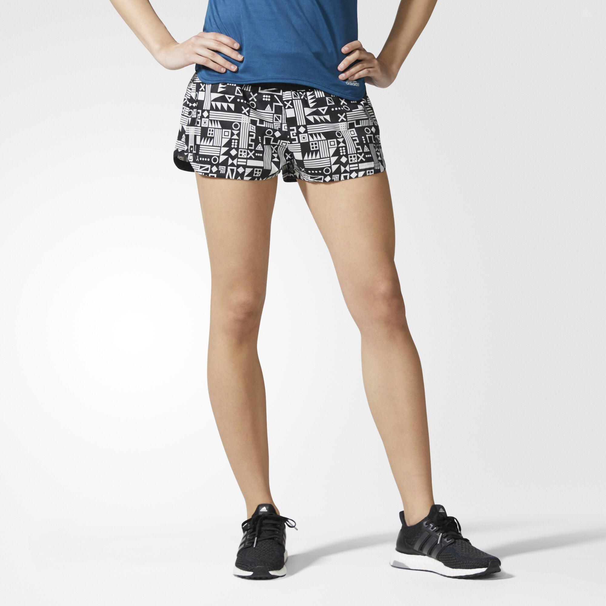 size 40 cdf16 0b14e ... adidas - Supernova Printed Glide Shorts Black   White BR6738 .