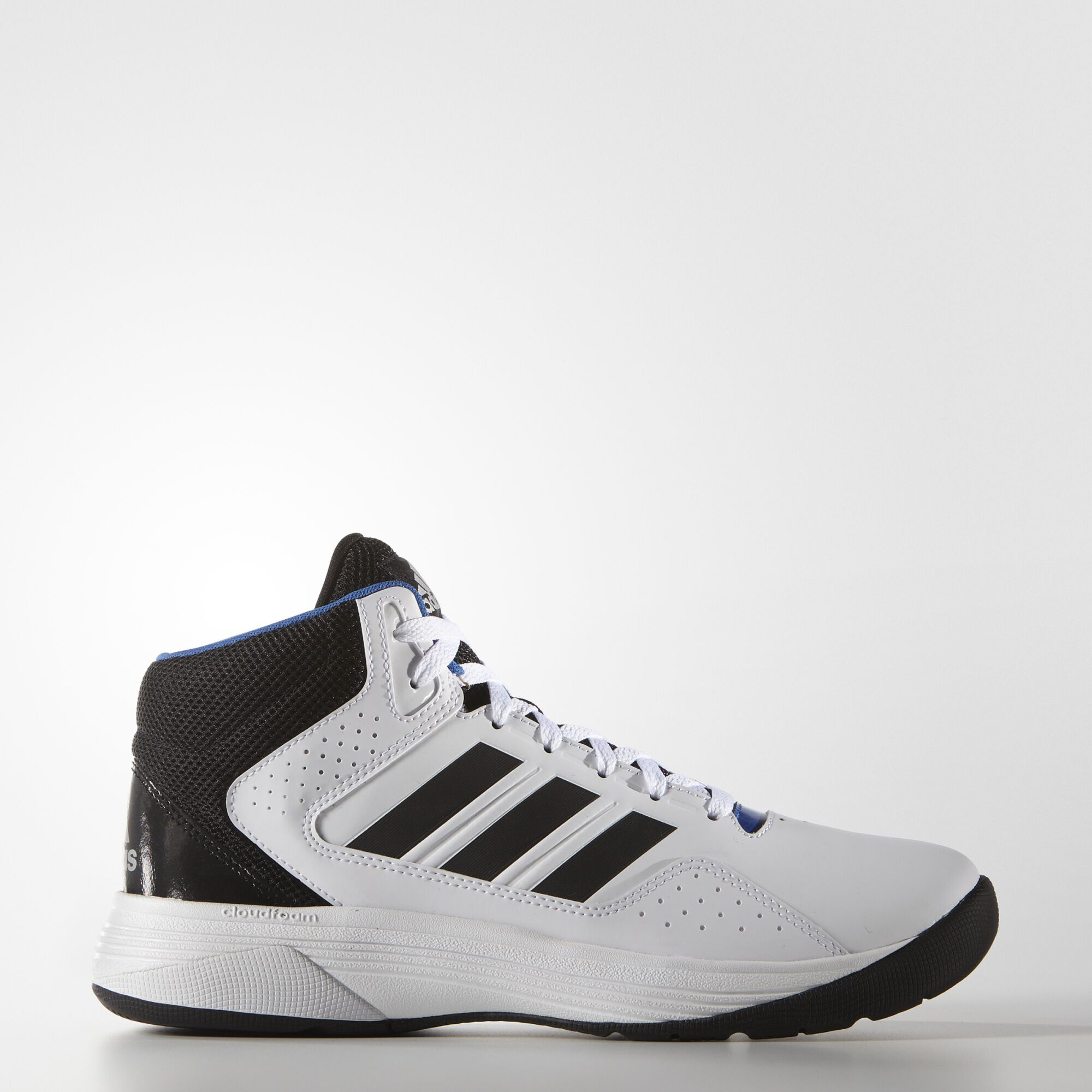 ADD TO CART; adidas - Cloudfoam Ilation Mid Shoes Running White Ftw / Black  / Matte Silver AQ1361
