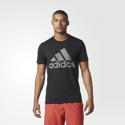adidas - Badge of Sport Lenticular Tee Black  /  White CD4337