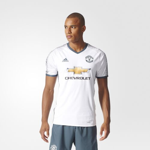 adidas - Manchester United FC Authentic Third Jersey White  /  Dark Onix AI6662