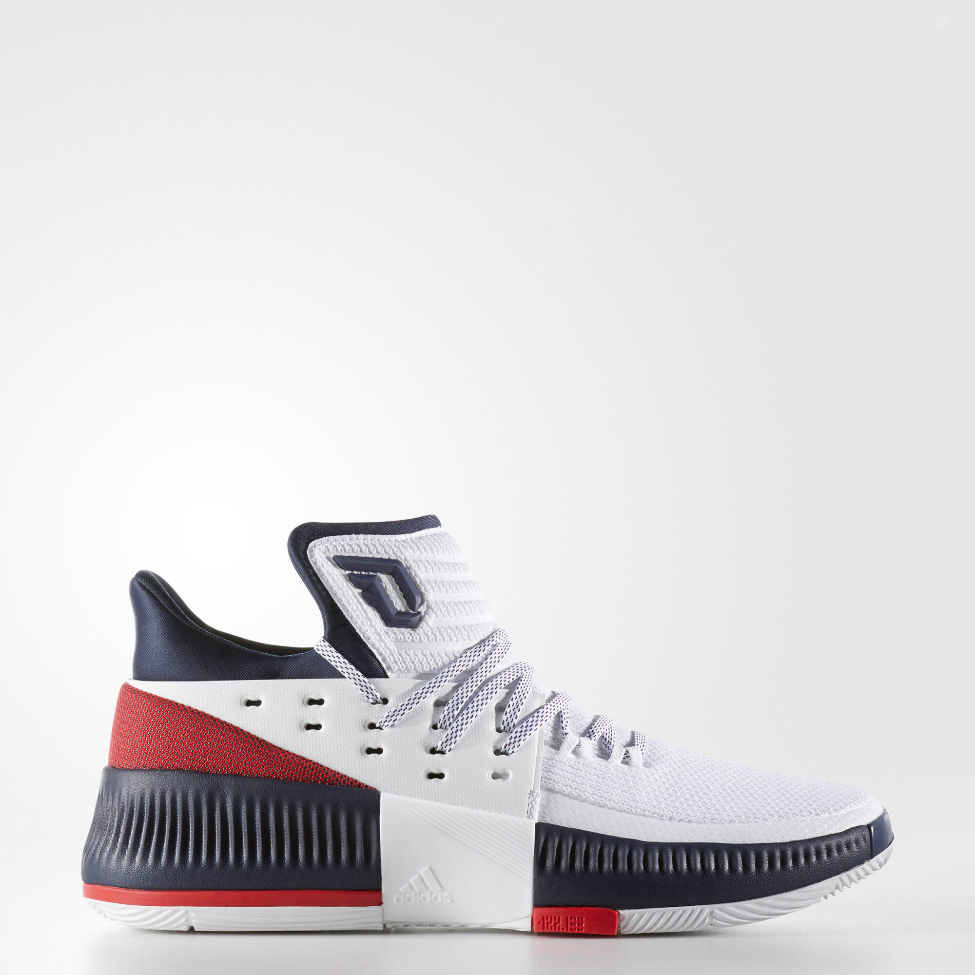 release date: 43f1f 31516 ... official store adidas d lillard 3 running white ftw light scarlet  collegiate navy by3762 188e7 3cdb1