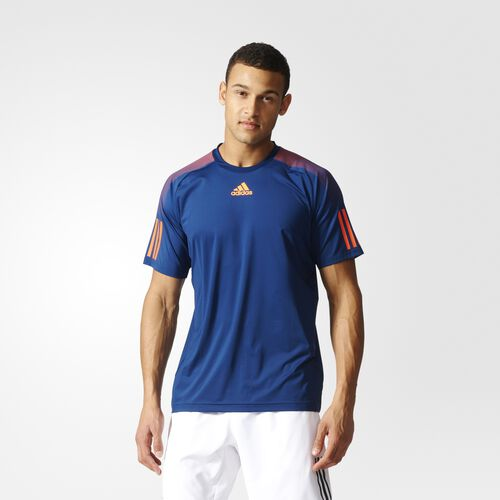 adidas - Barricade Tee Mystery Blue  /  Glow Orange BK0677