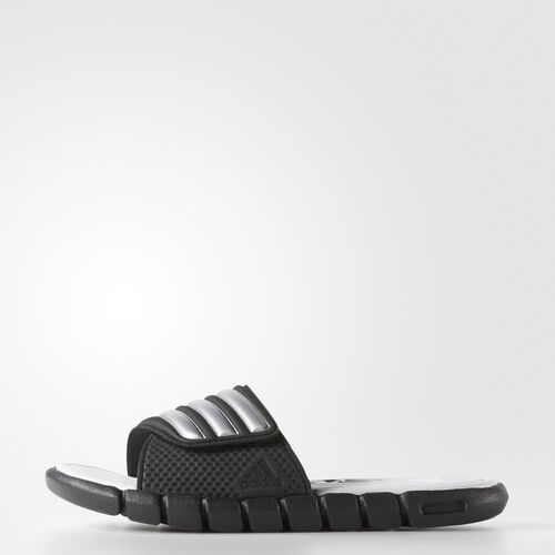 adidas - adiLight Cloudfoam Slides Core Black  /  Metallic Silver  /  Light Grey G41782