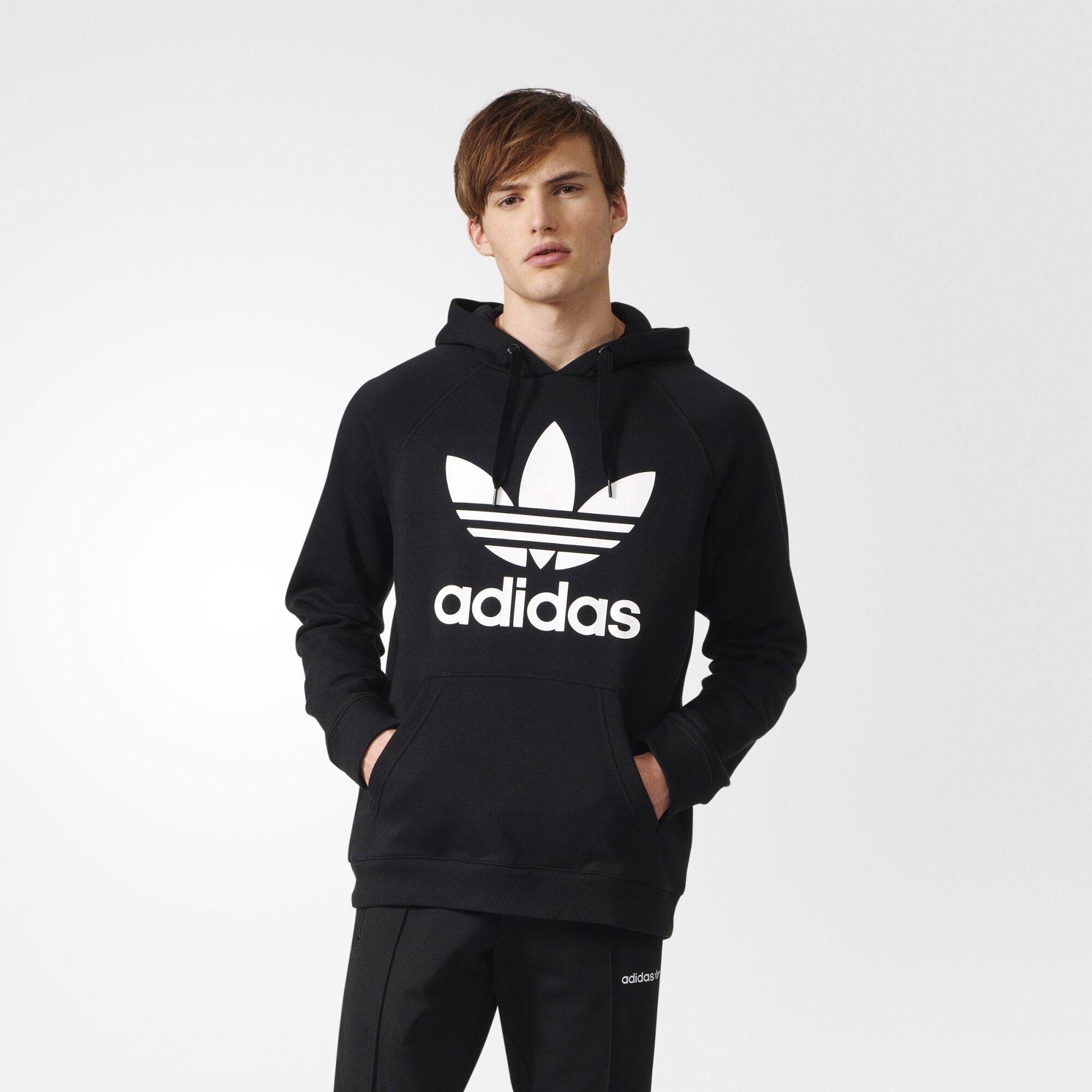 adidas Trefoil Hoodie - Black   adidas US