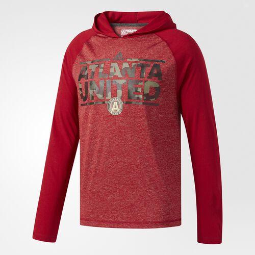 adidas - ULT LS HOOD TEE     VICTORY RED White BT4629