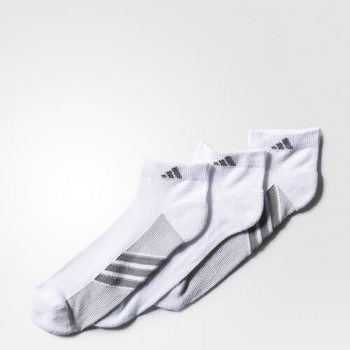 adidas - Climacool Superlite Low-Cut Socks 3 Prs White  /  Aluminum  /  Medium Lead H77440