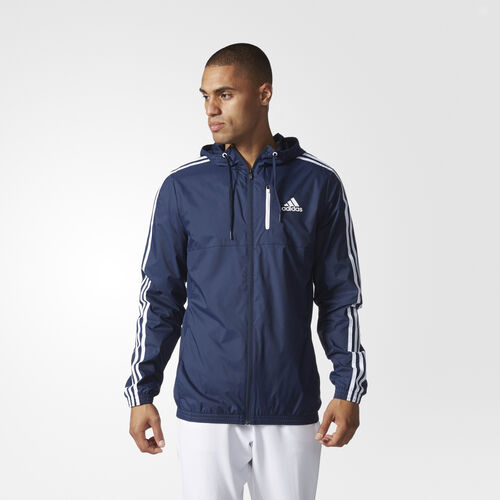 adidas - Big and Tall Essentials Woven Jacket Collegiate Navy  /  White BJ8518