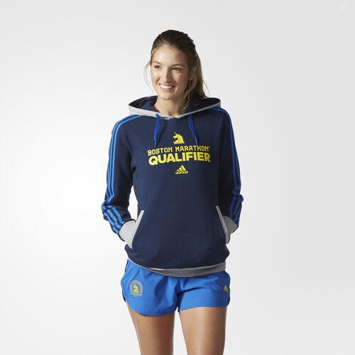 adidas - Boston Marathon® Qualifier Hoodie Medium Grey Heather  /  Satellite BJ9224