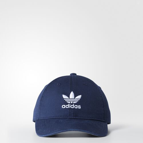 adidas - Originals Relaxed Strap-Back Hat Collegiate Navy  /  White BH7136