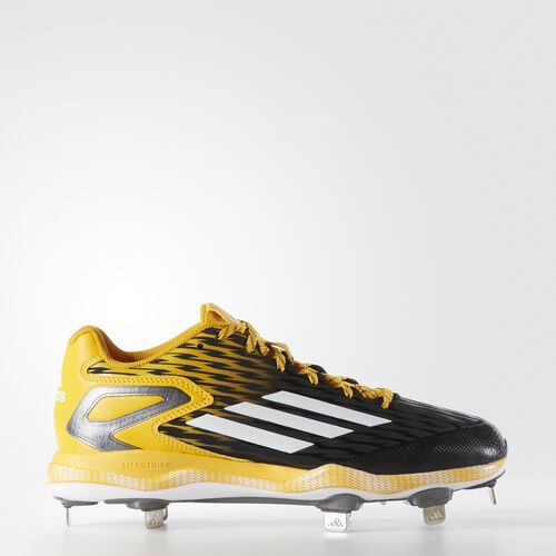 adidas - PowerAlley 3 Cleats Core Black  /  Running White  /  Gold Solid S84764