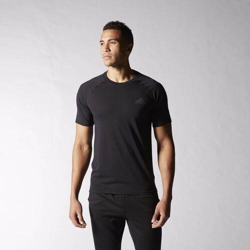 adidas - Ultimate Tee Black  /  Solid Grey S14033