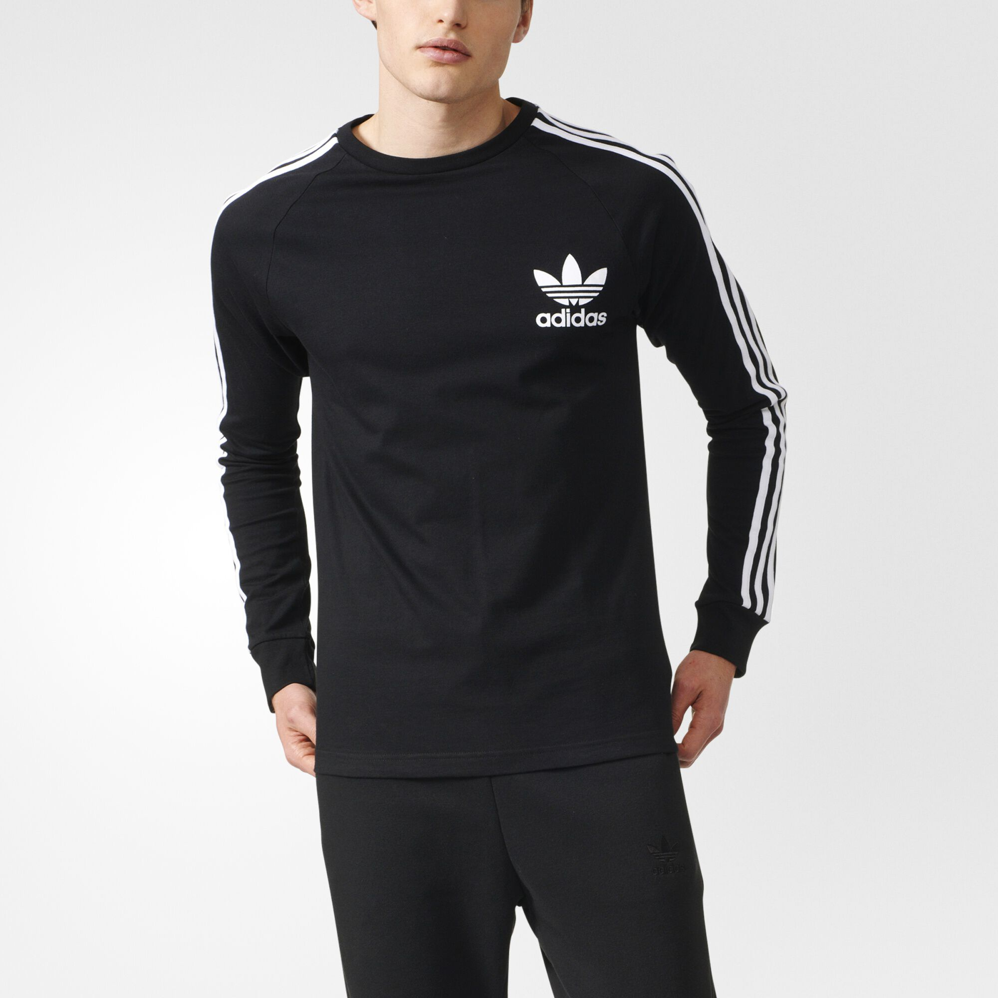 sold adidas black long sleeve shirt adidas superstar black. Black Bedroom Furniture Sets. Home Design Ideas