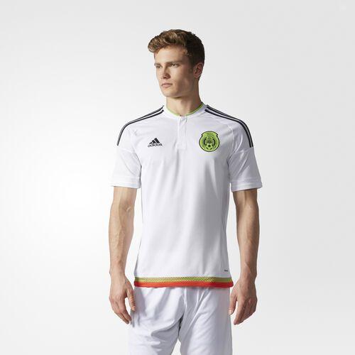 adidas - Mexico Away Replica Player Jersey White  /  Black  /  Semi Solar Green M36019