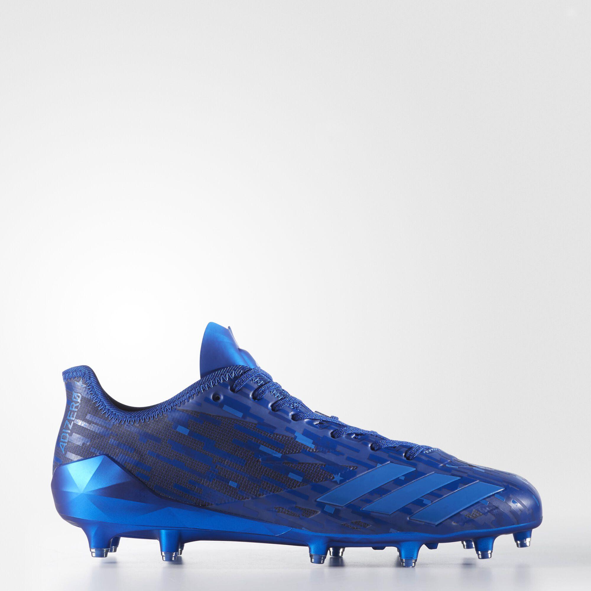 buy online f08ad 3506e adidas superstar shoes  adidas adizero 5 star 6.0 army dipped cleats powder  blue satellite true