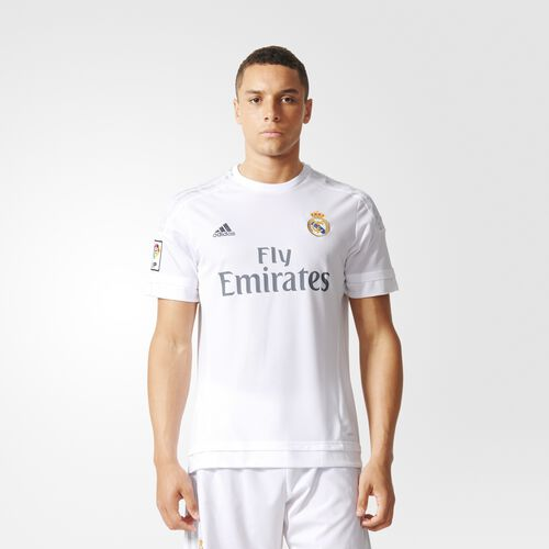 adidas - CAMISETA REAL MADRID HOME White/Clear Grey S12652