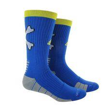 adidas - RG3 Copperas Cove Crew Socks 1 Pair Lg Blue  /  Yellow B01416