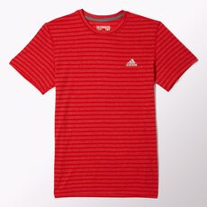 adidas - Ultimate Stripe Tee Scarlet  /  Matte Silver D88513