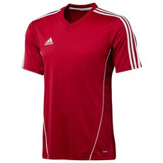 adidas - Estro 12 Short Sleeve Jersey Power Red  /  White X20943