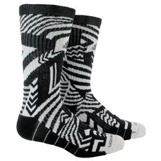 adidas - RG3 Carmoflage Crew Socks 1 Pair Large Black  /  White B06014