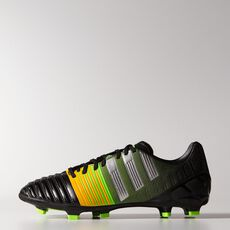 adidas - Nitrocharge 3.0 FG Cleats Core Black  /  Metallic Silver  /  Neon Orange M29900