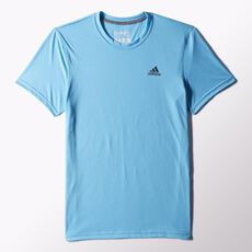 adidas - Clima Ultimate Short Sleeve Tee Bright Cyan S24861