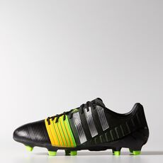 adidas - Nitrocharge 1.0 FG Cleats Core Black  /  Metallic Silver  /  Neon Orange M17722