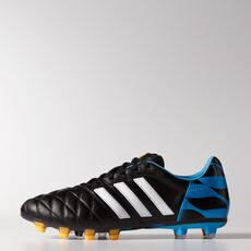 adidas - 11Pro FG Cleats Core Black  /  Running White  /  Solar Blue M17744